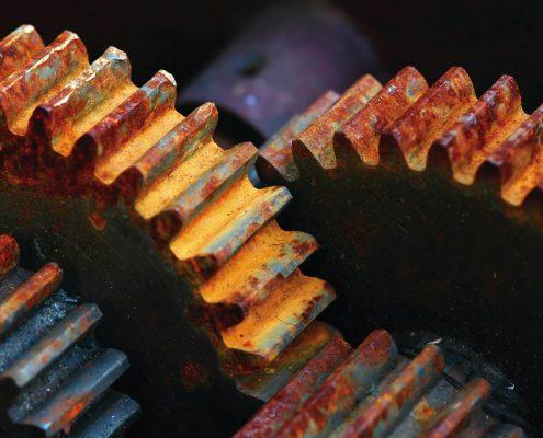 Corrosion resistant coating needed on cogwheel
